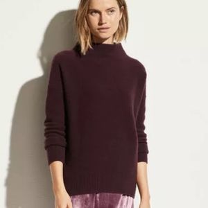 Vince Boiled Cashmere Funnel Neck Pullover Sweater
